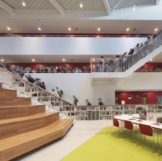 Krimpenerwaard college interieur dp6 architectuurstudio for Interieur ontwerp programma