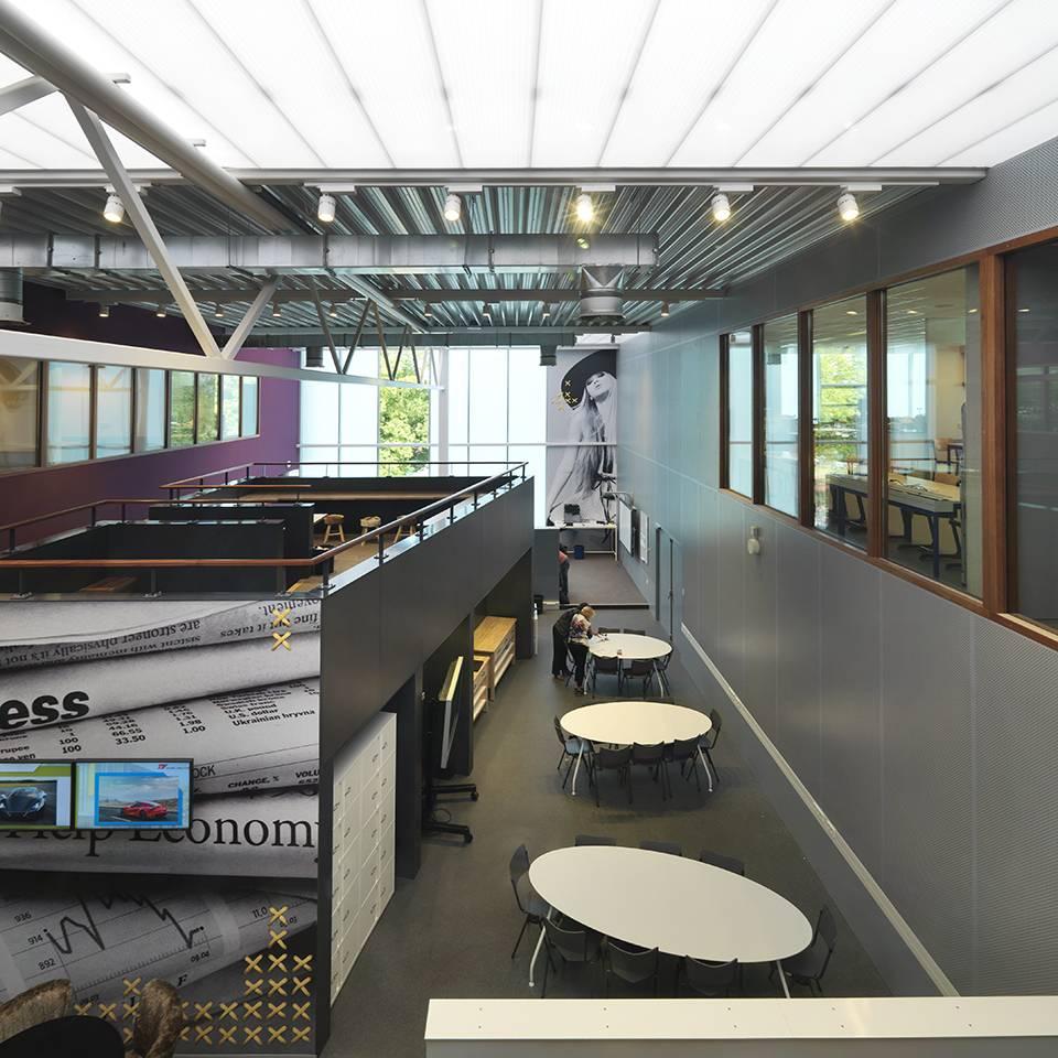 Stedelijk college eindhoven interieur dp6 architectuurstudio for Interieur ontwerp programma
