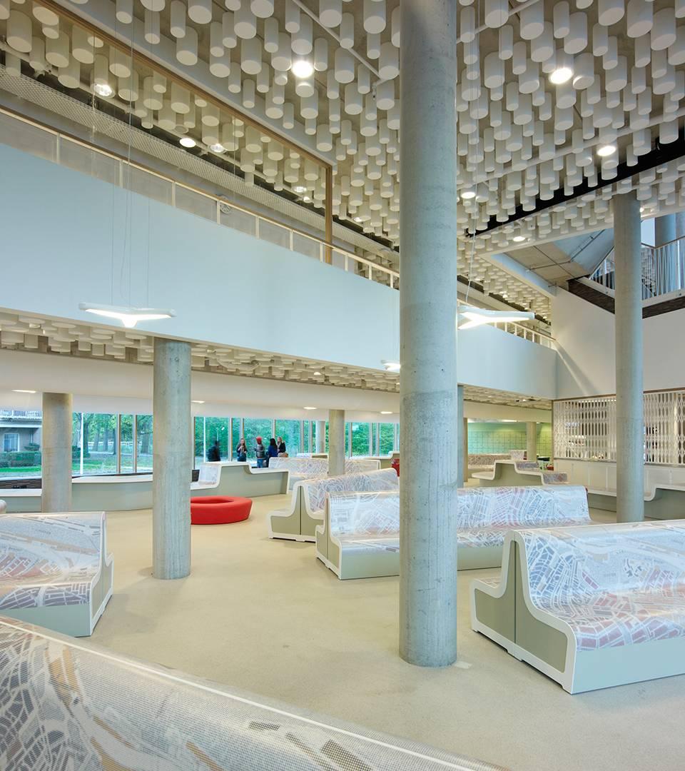 St nicolaaslyceum interieur dp6 architectuurstudio for Interieur ontwerp programma